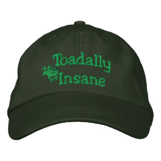 Funny Toad Embroidered Hat