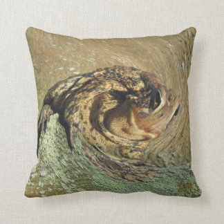 Funny Toadly Awesome Waves Throw Pillow