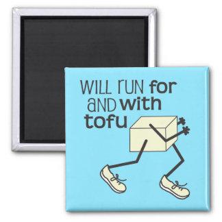 Funny TOFU Runner Fridge Magnet