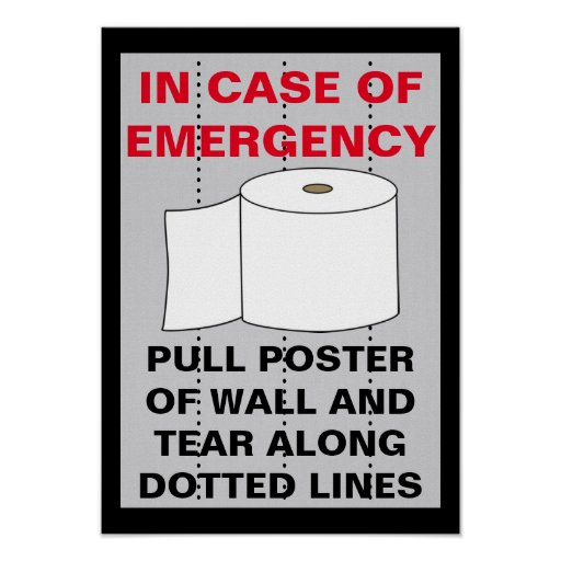 Funny Toilet Paper Bathroom Poster Zazzle