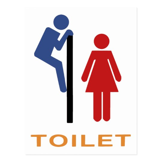 Funny Toilet Sign Postcard