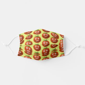 Funny Tomato Healthy Food Fruit Vegetable Cloth Face Mask