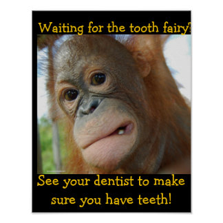 Funny Tooth Fairy Children s Dentist Posters