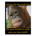 Funny Tooth Fairy Children's Dentist Posters