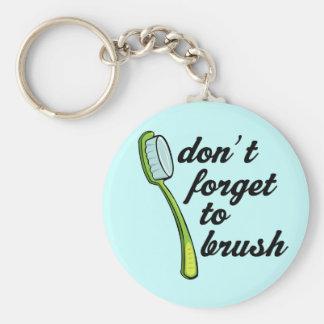 Funny Toothbrush Dentist Keychain