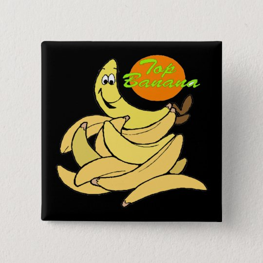 Funny Top Banana T-shirts Gifts 15 Cm Square Badge