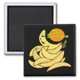 Funny Top Banana T-shirts Gifts Square Magnet