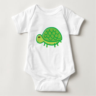 Funny Tortoise on White Baby Bodysuit