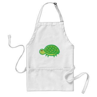 Funny Tortoise on White Standard Apron