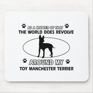 Funny toy manchester terrier designs mouse pad