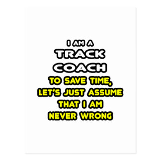Funny Track Coach T-Shirts and Gifts Postcard