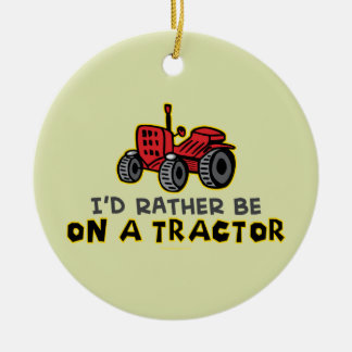 Funny Tractor Christmas Ornament