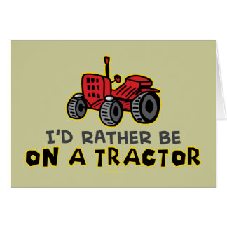 Funny Tractor Greeting Cards