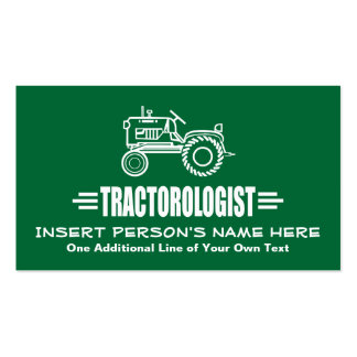 Funny Tractor Pack Of Standard Business Cards