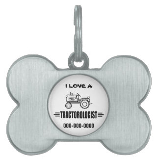 Funny Tractor Pet Name Tag