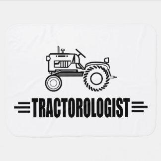 Funny Tractor Receiving Blanket