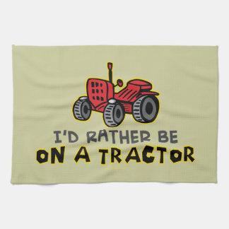 Funny Tractor Tea Towel