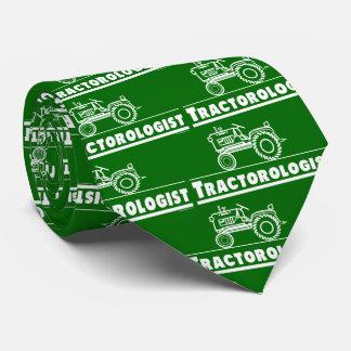 Funny Tractorologist Green Tractor Tie