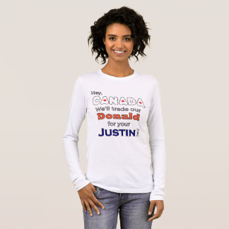 Funny Trade Donald For Justin Anti Trump T-Shirt