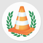 Funny Traffic Cone Collector Stickers