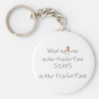 Funny Trailer Park Shirt Key Ring