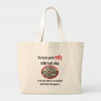 Funny Trailer Park Shirt Canvas Bags
