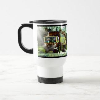 FUNNY TRASH TRUCK DRIVER'S COFFEE MUG