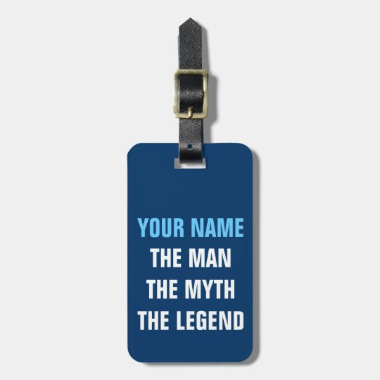 Funny travel luggage tag | The man myth