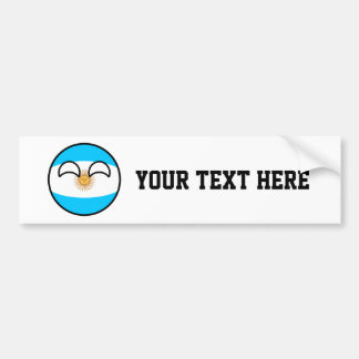 Funny Trending Geeky Argentina Countryball Bumper Sticker