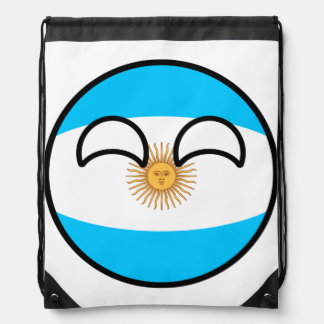 Funny Trending Geeky Argentina Countryball Drawstring Bag