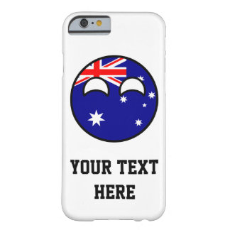 Funny Trending Geeky Australia Countryball Barely There iPhone 6 Case
