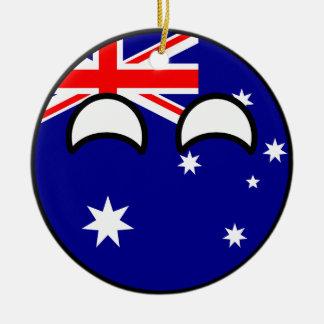 Funny Trending Geeky Australia Countryball Christmas Ornament