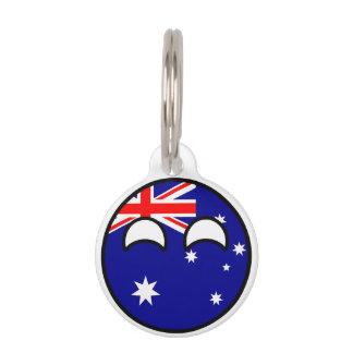 Funny Trending Geeky Australia Countryball Pet Nametags