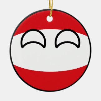 Funny Trending Geeky Austria Countryball Christmas Ornament