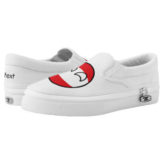 Funny Trending Geeky Austria Countryball Slip-On Shoes