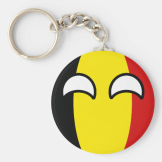 Funny Trending Geeky Belgium Countryball Key Ring