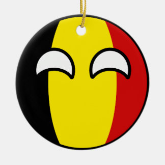 Funny Trending Geeky Belgium Countryball Round Ceramic Decoration