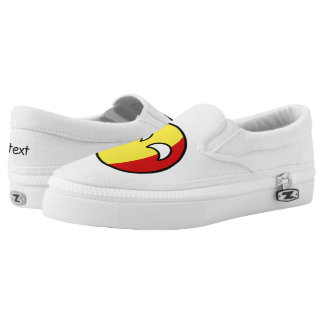 Funny Trending Geeky Belgium Countryball Slip-On Shoes
