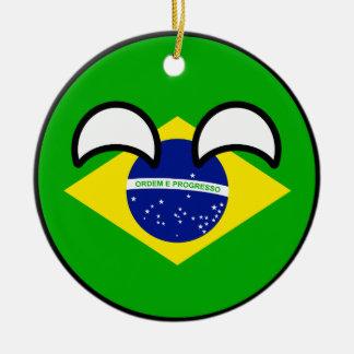 Funny Trending Geeky Brazil Countryball Christmas Ornament