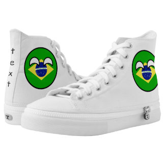 Funny Trending Geeky Brazil Countryball High Tops