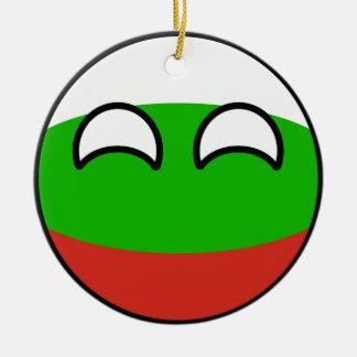 Funny Trending Geeky Bulgaria Countryball Christmas Ornament