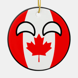 Funny Trending Geeky Canada Countryball Christmas Ornament