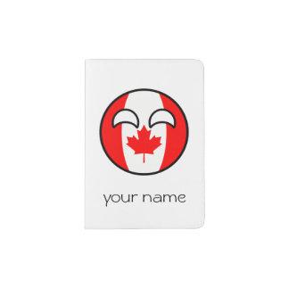Funny Trending Geeky Canada Countryball Passport Holder