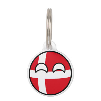 Funny Trending Geeky Denmark Countryball Pet Tags