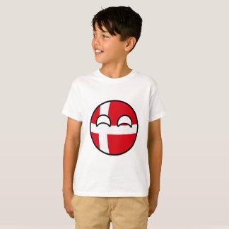 Funny Trending Geeky Denmark Countryball T-Shirt