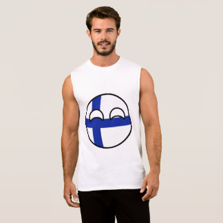 Funny Trending Geeky Finland Countryball Sleeveless Shirt