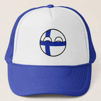 Funny Trending Geeky Finland Countryball Trucker Hat