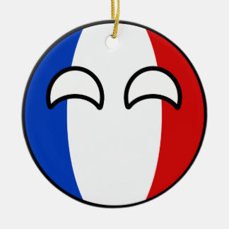 Funny Trending Geeky France Countryball Christmas Ornament