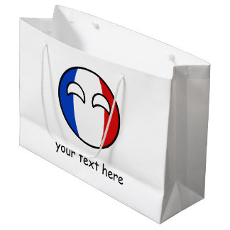 Funny Trending Geeky France Countryball Large Gift Bag