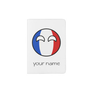 Funny Trending Geeky France Countryball Passport Holder